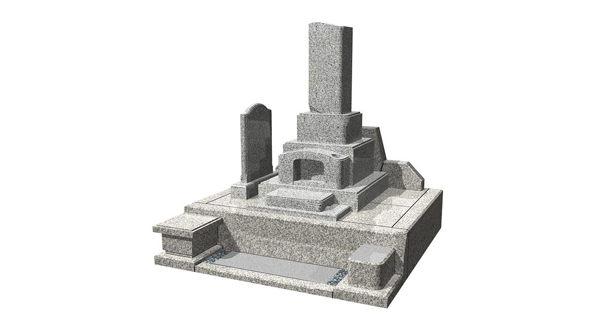 和型「こまち」型+外柵「花梨」型墓誌付