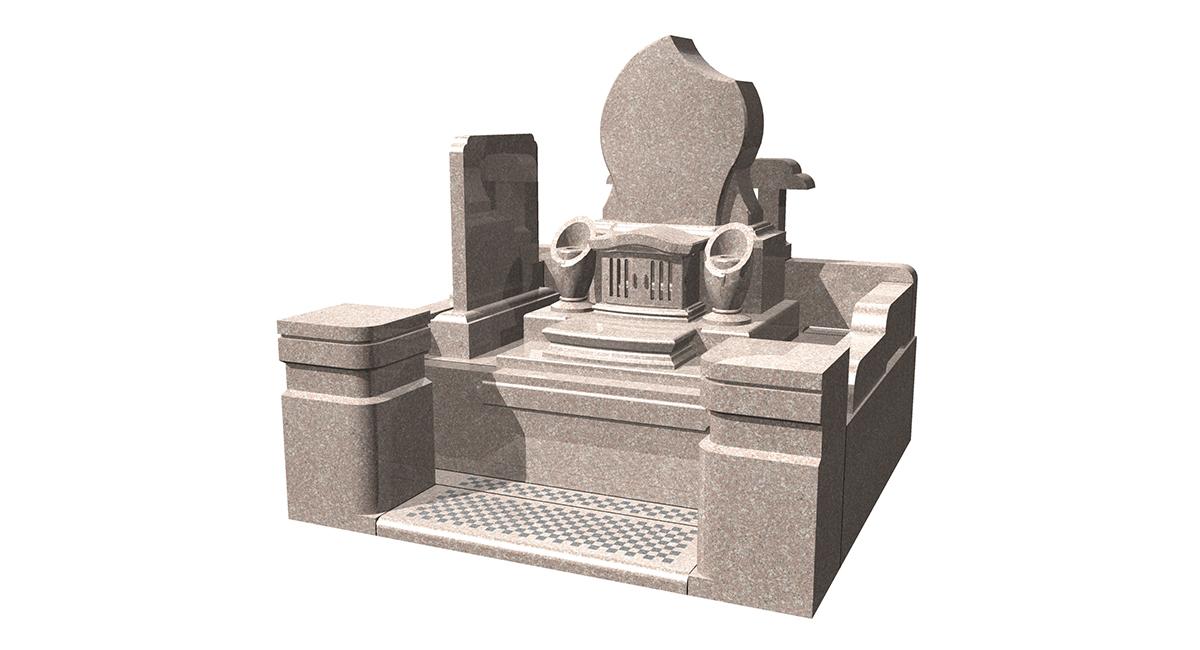洋型「エデン」型+外柵「みさき」型墓誌付