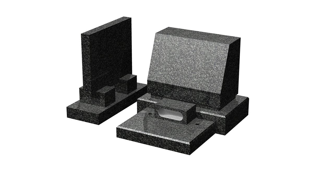 大塚山規格石塔+墓誌セット