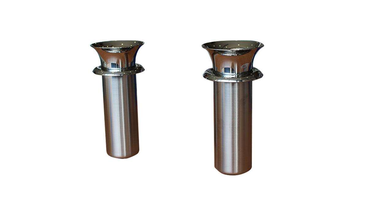 ステンレス花筒 ツバ付(深さ150mm)