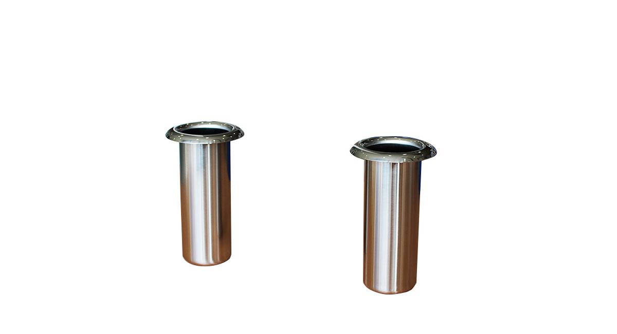 ステンレス花筒 ツバ無(深さ150mm)