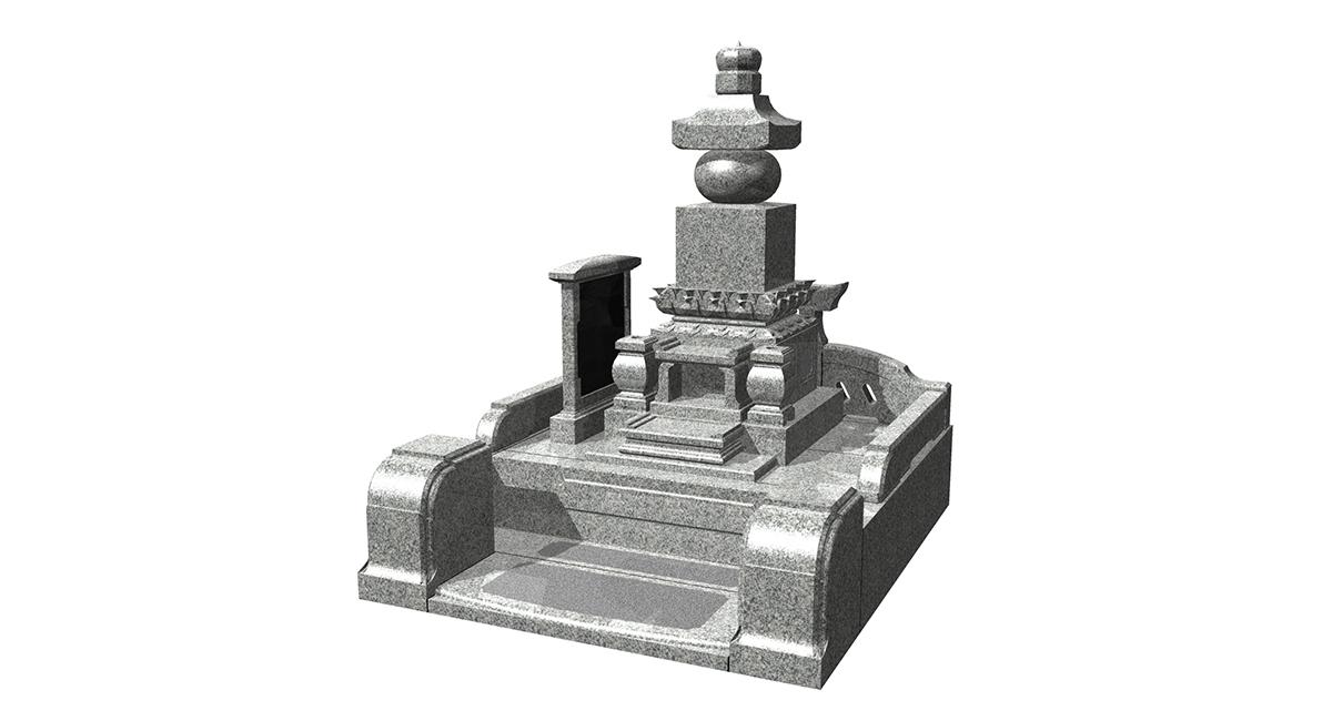 特注古代型五輪塔+外柵「無双」