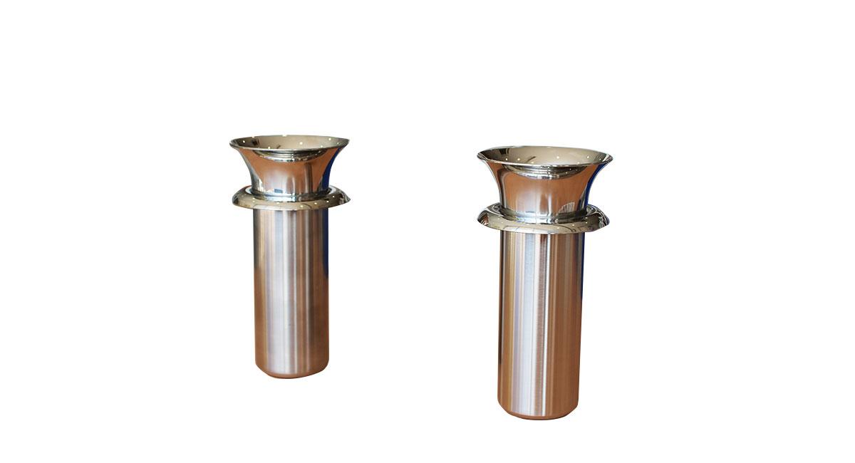 ステンレス花筒 ツバ付(深さ135mm)