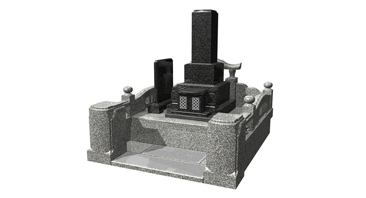 和型「かたらい」型+外柵「神威」墓誌