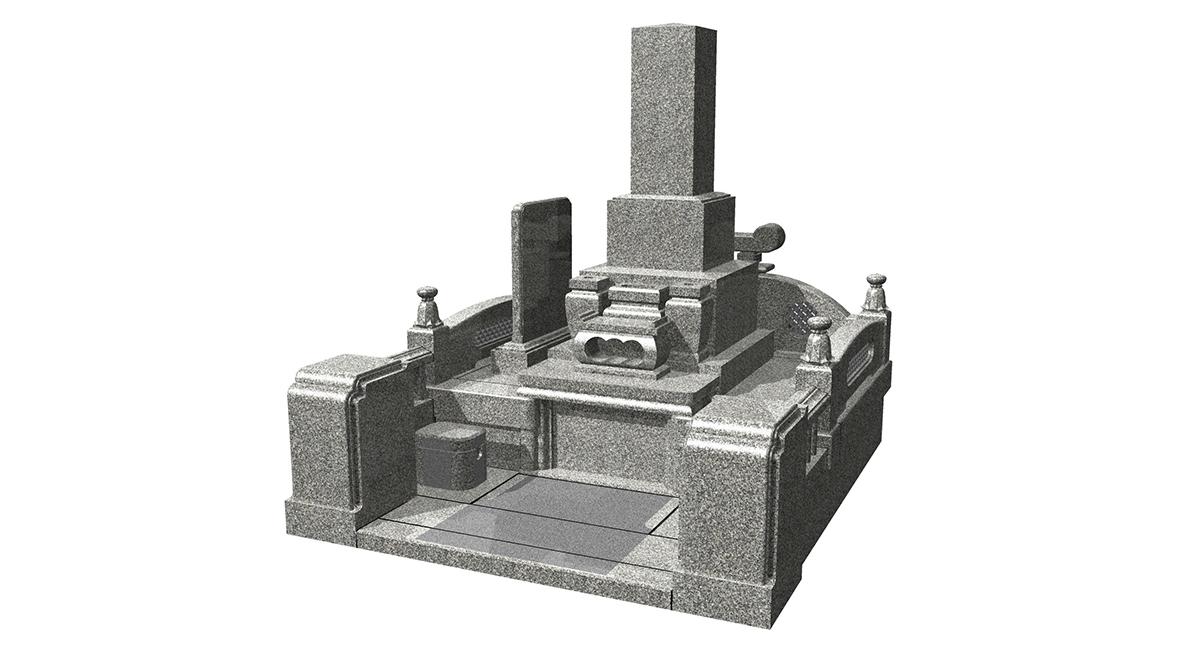 和型「KNAY-11KGト金」型+外柵「養老」墓誌付